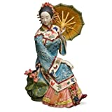 This porcelain figurine renders the story of a young lady in early Qing (1644) costume sitting by the lotus pond and listening to the sound of frogs. An old Chinese belief says that in midsummer afternoon the sound emitted by the frogs in the...