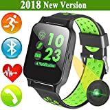 Smart Watch for Android iOS Phones Men Women Fitness Tracker with Bluetooth Heart Rate Blood Pressure Sleep Monitor iGeeKid Sport Wristbands Pedometer Calorie for Travel Outdoor Running For Sale
