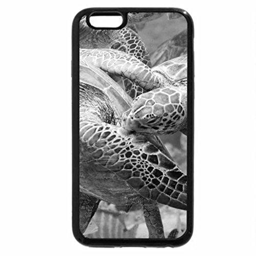 iPhone 6S Plus Case, iPhone 6 Plus Case (Black & White) - Turtles swimming in Blue Lagoon Bora Bora