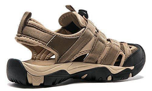 Atika AT-W107-KHK_Women 9 B(F) Women's Sports Sandals Trail Outdoor Water Shoes 3Layer Toecap W107