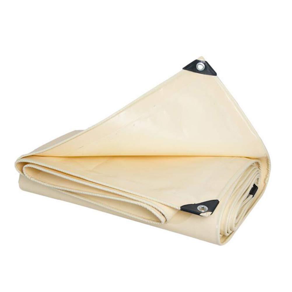 DALL ターポリン アウトドア タープ ヘビーデューティー グランドシート カバー 防水 ターポリン ボート 車 (色 : ベージュ, サイズ さいず : 5*6m) 5*6m ベージュ B07KPSR1LP