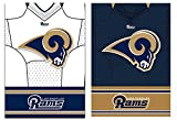 Team Sports America LA Rams Double Sided Jersey Suede Garden Flag, 12.5 x 18 inches
