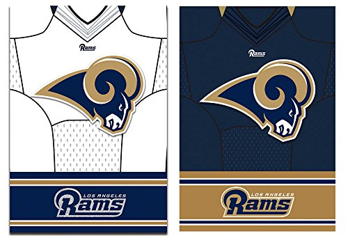 Team Sports America LA Rams Double Sided Jersey Suede Garden Flag, 12.5 x 18 inches by Team Sports America