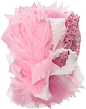 Baby-girls Newborn Party Headband, Light Pink, One Size