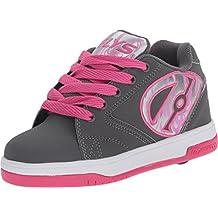Heelys Unisex Children's Propel 2.0 Grey/Pink/Flames Size 8 M