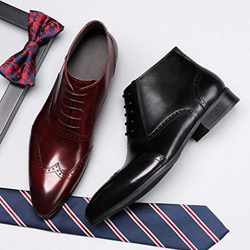 Herren Lederschuhe Herren Lederschuhe High-Top Martin kurze Armee Stiefel wies Herrenschuhe ( Farbe : Braun , größe : EU43/UK8 ) Braun