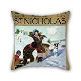 Pillow Cases Of Oil Painting Norman Rockwell - Girl In Snow With Dog 18 X 18 Inches / 45 By 45 Cm Best Fit For Adults Son Living Room Gril Friend Bedroom Him Both Sides