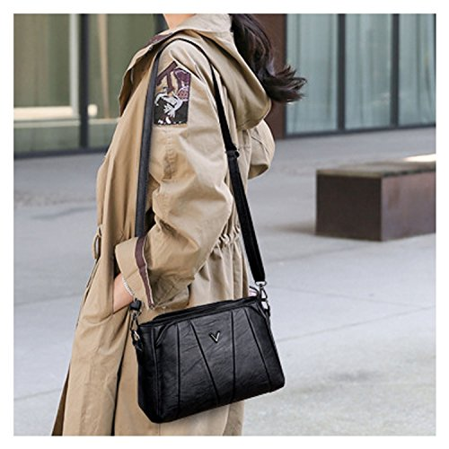 A Bag black Classic Clutches Purse Sanxiner Shoulder Crossbody Women's Handbags Bags n4aAnTpx