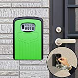 Key Lock Box Large Password Lock Box Security Anti-Theft Box Wall Cabinet Safety Box (Orange),StarLightd (Color : Green)