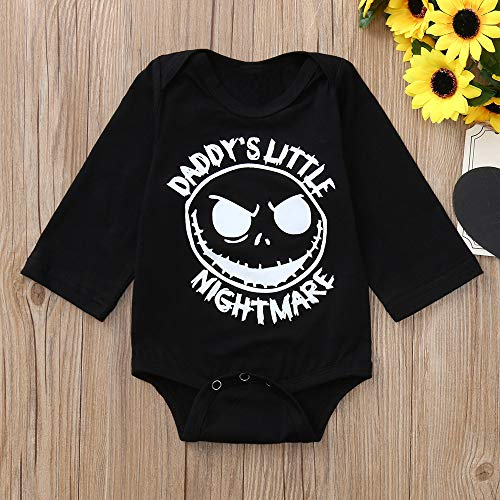 SMALLE◕‿◕ Newborn Toddler Infant Baby Boys Girls Letter Print Romper Jumpsuit Outfits by SMALLE◕‿◕ (Image #1)