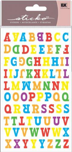EK Success Sticko Stickers, Type O Alphabet