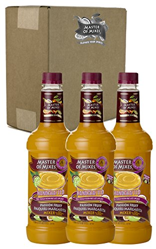 Master of Mixes Passion Fruit Drink Mix, Ready To Use, 1 Liter Bottle (33.8 Fl Oz), Pack of 3 (Coco And Ice T Halloween Costumes)
