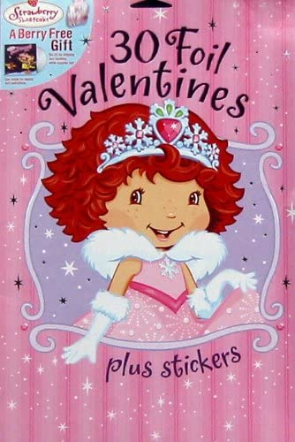 Large Stickers 10 Strawberry Shortcake Valentine/'s Day Heart Shaped