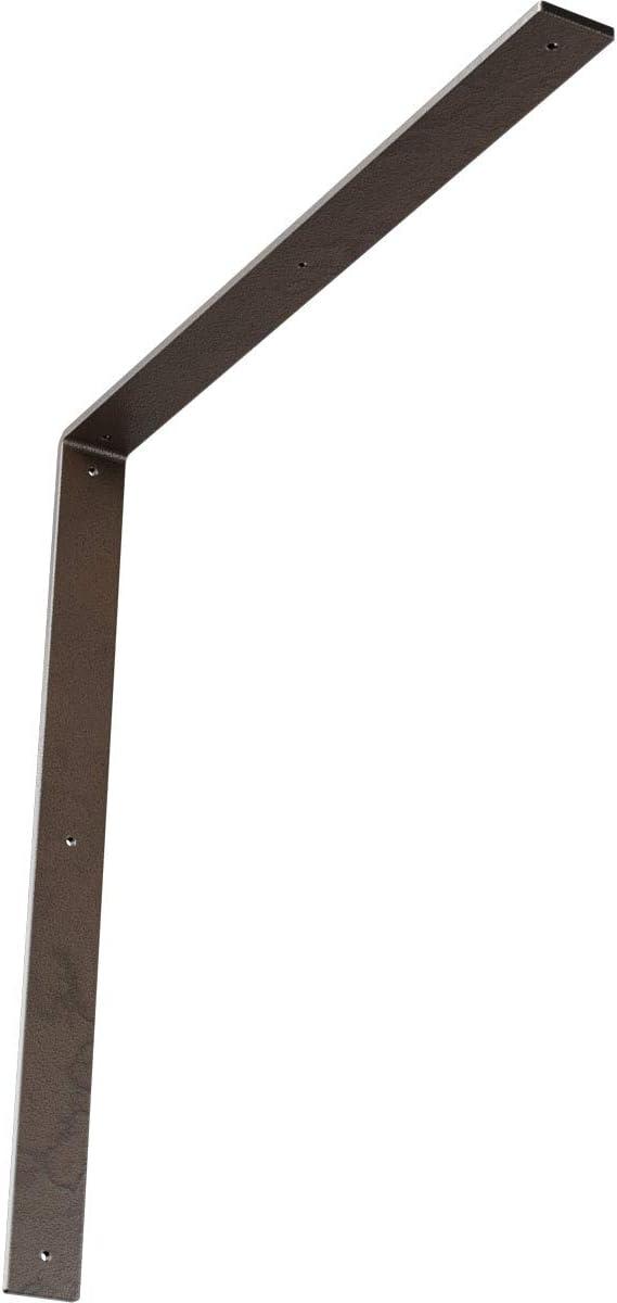 Hammered Black 2 Wx 12 Dx 12 Ekena Millwork BKTM02X12X12HAHBL 2 W D x 12 H Hamilton Steel Bracket