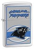 Zippo NFL Carolina Panthers Lighter (Silver, 5 1/2 x 3 1/2 cm)