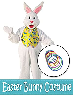 BirthdayExpress Easter Bunny With Yellow Vest Costume Kit