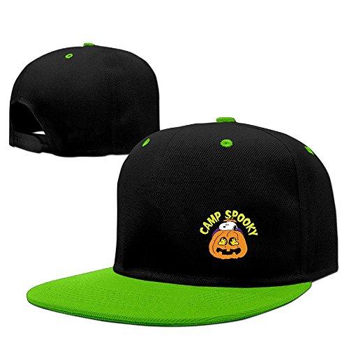 (Funny Pregnanc Halloween Snoopy Humor Flat Brim Snapback Caps)