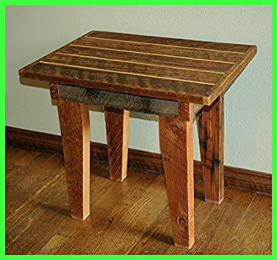 Simple rustic and refined details allow this custom old growth end table to become a unique, one of a kind work of art.