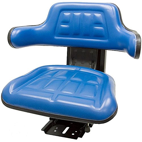 Blue Ford/New Holland 600, 601, 800, 801 TRAC Seats Brand Waffle Style Universal Tractor Suspension SEAT with TILT (Same Day Shipping - GET IT Fast!! View Our Transit MAP) by TRAC SEATS