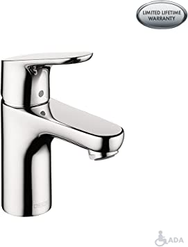 Hansgrohe Focus Modern 1 Handle 7 Inch Tall Bathroom Sink Faucet
