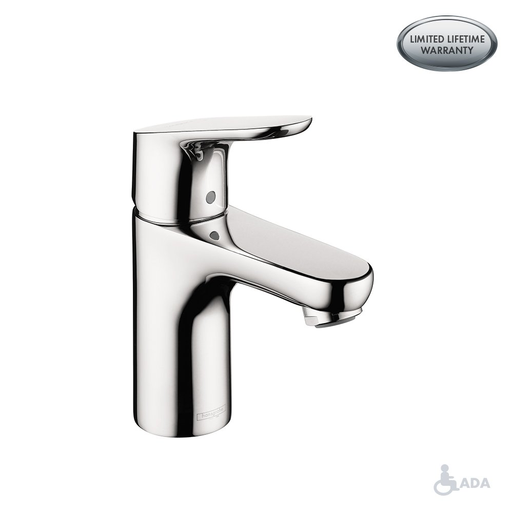 hansgrohe Focus  Modern 1-Handle  7-inch Tall Bathroom Sink Faucet in Chrome, 04371000 by Hansgrohe