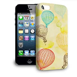 Phone Case For Apple iPhone 5 - Vintage Hot Air Balloons Protective Premium