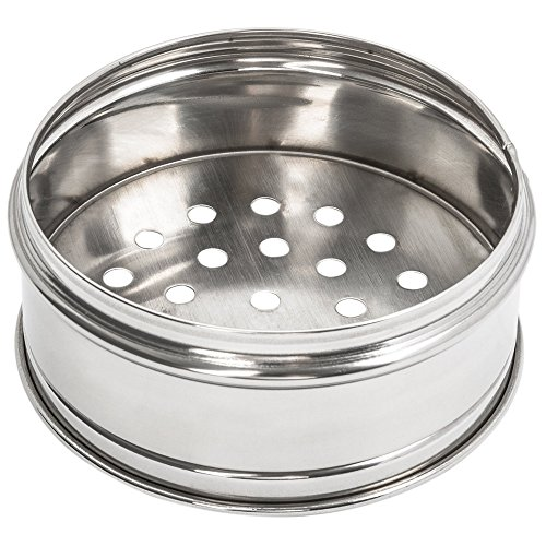 Table Top King Kingn 36508 8 1/4'' Stainless Steel Dim Sum Steamer - 12/Pack by kingn
