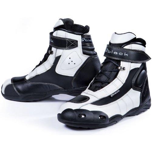 Black FC-Tech - Motorrad-Stiefel kurz - Schuhe - knöchelhoch - Weiß - EU44