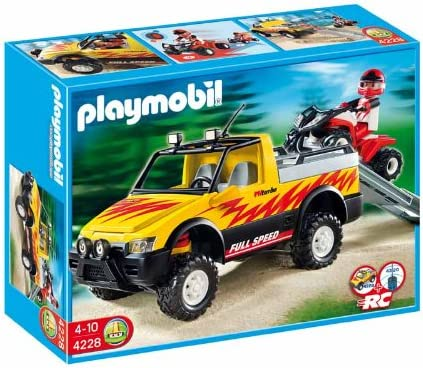 PLAYMOBIL - Pick-up Coche, Set de Juego (4228)