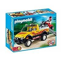 Playmobil - 4228 - Pick-up et quad de course rouge