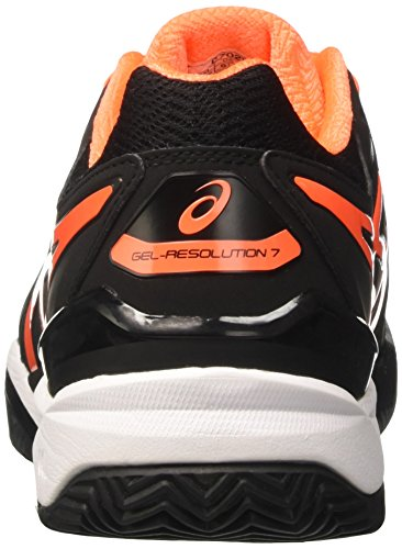 7 Asics Clay Hombre Negro Tenis Zapatillas shocking white Gel De resolution black Para Orange gwrESqg