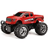 New Bright Chargers F/F Ford Raptor RC Vehicle (1:18 Scale), Red
