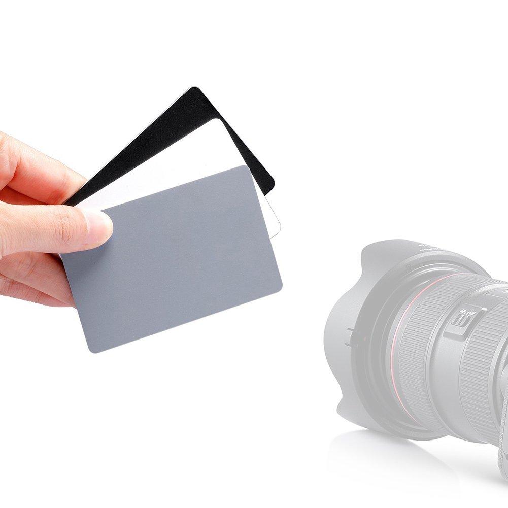 Amazon.com: macolink Balance de blancos grises tarjetas 18 ...
