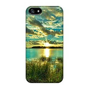 Iphone 5/5s Case Cover Beautiful Green Sunset Case - Eco-friendly Packaging