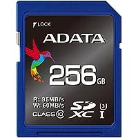 ADATA ASDX256GUI3CL10-R Premier Pro 256GB SDXC UHS-I Speed U3 Class 10 MLC 4K Ultra HD 95/60MB/s SD Memory Card