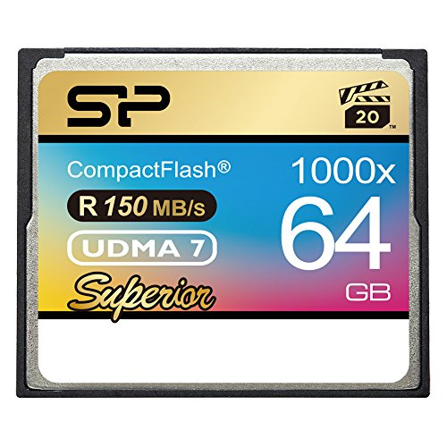 Silicon Power 64GB Hi Speed 1000x Compact Flash Card (SP064GBCFC1K0V10) by Silicon Power