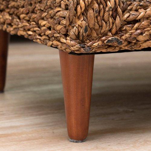 センターテーブル 100 ガラス アバカ おしゃれ 幅100cm リビングテーブル ガラステーブル アジアンテイスト アジアン家具 南国風 バリ風 リゾートスタイル ナチュラル B073CPB8DB ナチュラル  ナチュラル