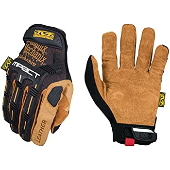 Mechanix Wear Leather M Pact Gloves Large Black Brown