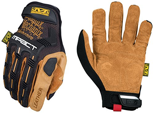 Mechanix Wear - Leather M-Pact Gloves (X-Large, Black/Brown) ()