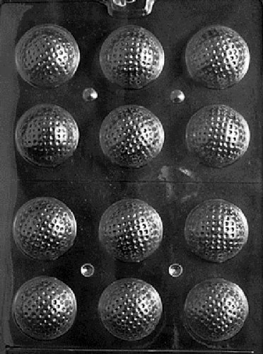 Golf Ball Candy Mold - 3D Golf Balls Chocolate Candy Mold - 3 Count