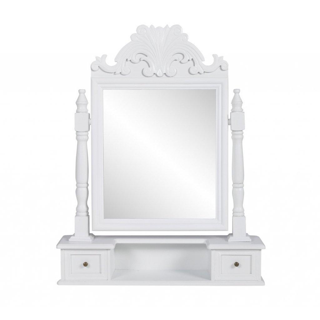 songmics baroque sgabello tavolo trucco per toeletta bianco rds45w ... - Toilette Provenzale Con Specchio E Sgabello
