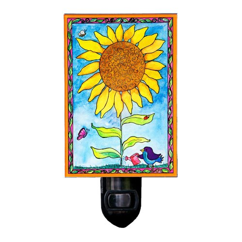 Sunflower Night Light Nightlight Kids Bedroom Home Decor Lighting Flower Garden Floral Summer Nature Mother Mom