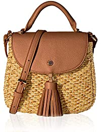 Woven Bag for Women Straw Cross Body Bag Shoulder Top Handle Satchel by The Lovely Tote Co.