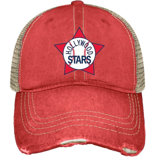 Minor League Baseball Hollywood Stars Hat, One Size, Red