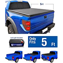 Tyger Auto TG-BC1T9044 TOPRO Roll Up Truck Bed Tonneau Cover 2016-2018 Toyota Tacoma | Fleetside 5' Bed | For models with or without the Deckrail System