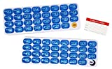 AM/PM 31 Day Monthly Pill Organizer with Removable Pods and Bonus Medical Alert Card - Keep a months supply of morning and evening medications, vitamins & supplements ready to go. (1)