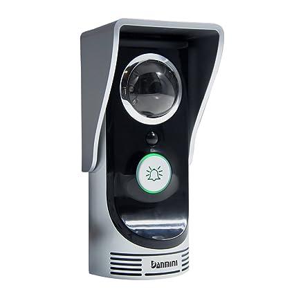 KKmoon WIFI Timbre de Intercomunicador Videoportero Inalámbrico Digital Mirilla Cámara 2,0 Megapíxeles Visión Nocturna