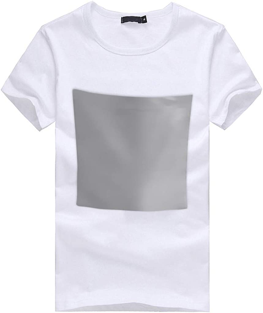 MODOQO Mens T-Shirt,Summer Casual Short Sleeve Solid Color Tops with Caps for Beach