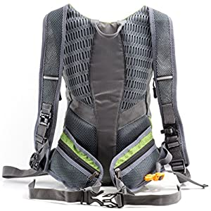 Hydration Pack with FREE 2l Water Bladder by Raw Mountain. Mountain Backpack for Skiing Hiking, Biking & Running. Adjustable Shoulder & Waist Straps to fit Men, Women, Kids