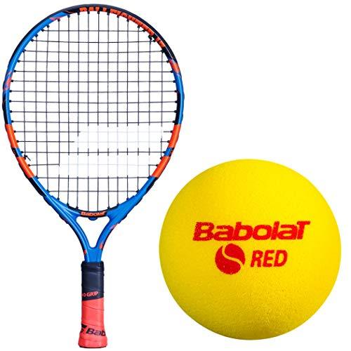 Babolat Ballfighter Blue/Orange 17 Inch Child's Tennis Racquet Bundled with 3 Red Foam Training Tennis Balls (Best Starter Kit for Kids Age 5 and Under)
